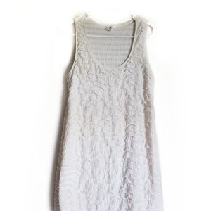Free People Cream Glitter Ruffle Dress